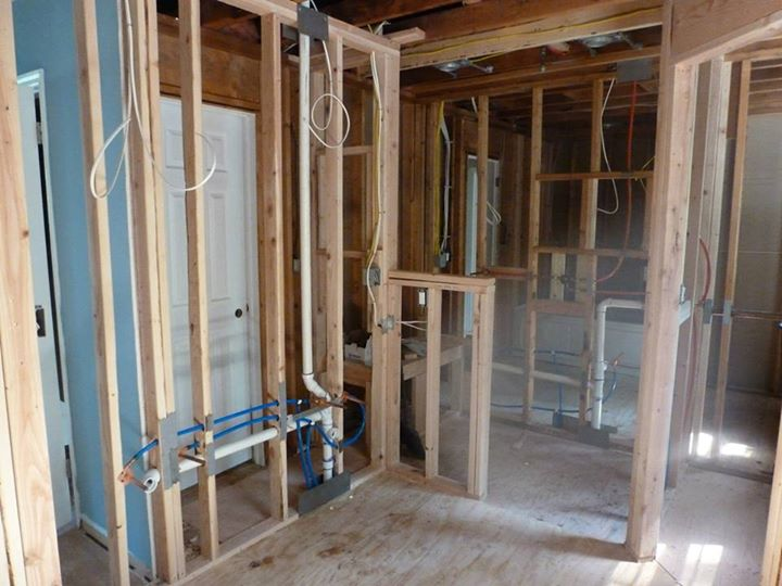 Vanity Light Electrical Rough In : Remodel of a master bathroom in a 1969 colonial home Process ProSkill