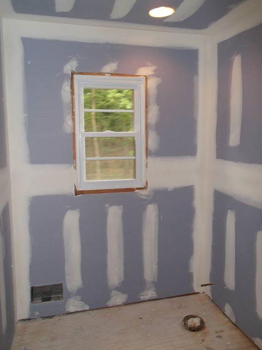 Drywall Hallway Bathroom