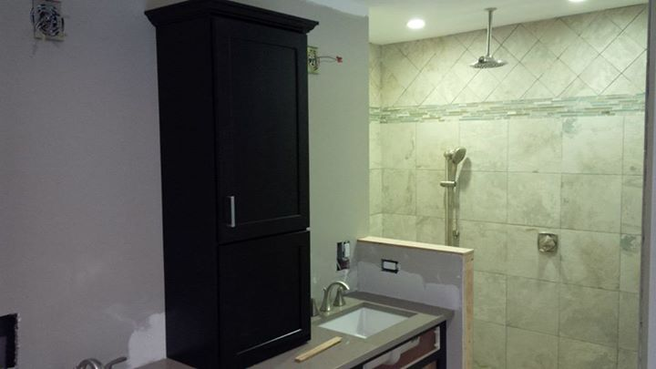 remodel of a master bathroom in a 1969 colonial home